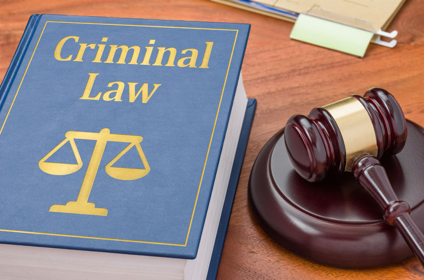 38365693 - a law book with a gavel - criminal law